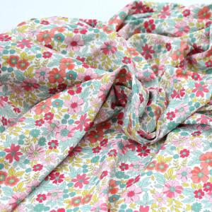 Jersey Lycra (maillot de bain) coloris fleuri vitaminé